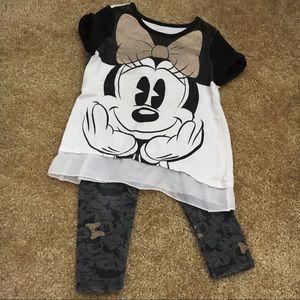 Minnie Mouse 2pc pants set 2T